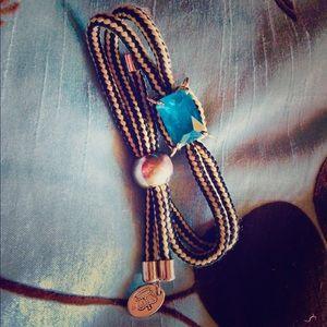 Juicy Couture adjustable blue stone bracelet